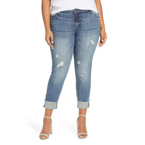 KUT FROM THE KLOTH Catherine Raw Hem Jeans Size 24